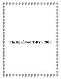 Chỉ thị số 06/CT-BYT 2013