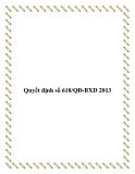 Quyết định số 618/QĐ-BXD 2013