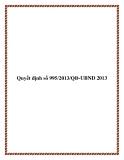 Quyết định số 995/2013/QĐ-UBND 2013