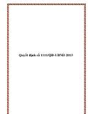 Văn bản số 1111/QĐ-UBND 2013