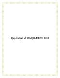Văn bản số 996/QĐ-UBND