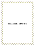 Đề án số 02/ĐA-UBND 2013