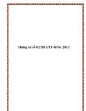 Thông tư số 02/2013/TT-BNG 2013