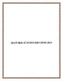 Văn bản số 24/2013/QĐ-UBND