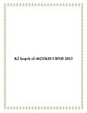 Kế hoạch số 4623/KH-UBND 2013