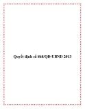 Quyết định số 868/QĐ-UBND 2013
