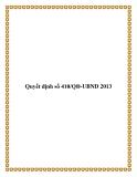 Quyết định số 410/QĐ-UBND 2013
