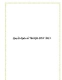 Quyết định số 784/QĐ-BNV 2013