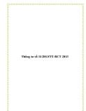 Thông tư số 11/2013/TT-BCT 2013