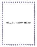 Thông báo số 76/2013/TT-BTC 2013
