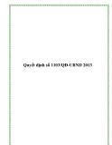 Quyết định số 1103/QĐ-UBND 2013