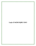 Luật số 36/2013/QH13 2013