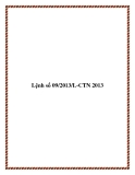Lệnh số 09/2013/L-CTN 2013