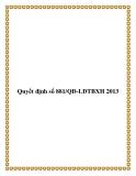 Quyết định số 881/QĐ-LĐTBXH 2013