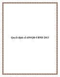 Quyết định số 659/QĐ-UBND 2013