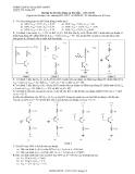 Bài tập ôn thi Dụng cụ bán dẫn - Đại học Bách khoa TP HCM