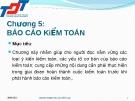 Bài giảng Kiểm toán đại cương: Chương 5 - Nguyễn Thị Thanh Hương