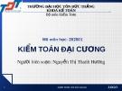 Bài giảng Kiểm toán đại cương: Chương 1 - Nguyễn Thị Thanh Hương