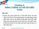 Bài giảng Kiểm toán đại cương: Chương 4 - Nguyễn Thị Thanh Hương