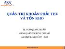 Bài giảng Quản trị tài chính doanh nghiệp: Chương 5 - Ts.Ngô Quang Hưng