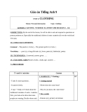 Giáo án Tiếng Anh 9 Unit 2: Clothing