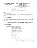 Đề KTCL HK1 Văn 12 - THPT Cao Lãnh 1 (2012-2013) - Kèm đáp án