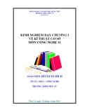 SKKN: Kinh nghiệm dạy chương I vẽ kĩ thuật cơ sở môn công nghệ 11