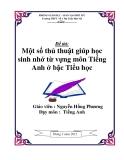 SKKN: Một số thủ thuật giúp học sinh nhờ từ vựng môn Tiếng Anh bậc Tiểu học