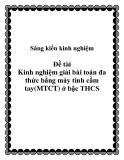 SKKN: Kinh nghiệm giải bài toán đa thức bằng máy tính cầm tay(MTCT) ở bậc THCS