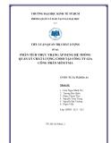 Tiểu luận: Phân tích thực trạng áp dụng hệ thống quản lý chất lượng CMMI tại công ty gia công phần mềm TMA