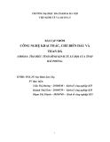 Báo cáo: Tìm hiểu tình hình kinh tế xã hội của tình Hải Phòng
