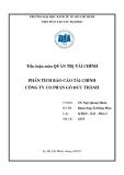 Tiểu luận môn Quản trị tài chính: Phân tích báo cáo tài chính Công ty cổ phần Gỗ Đức Thành