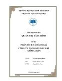 Tiểu luận: Phân tích và đánh giá công ty tập đoàn dầu khí Anpha (ASP)