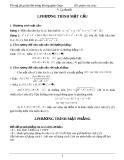 Lý thuyết phương trình mặt cầu - GV Phạm Văn Chúc
