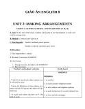 Giáo án Tiếng Anh 8 Unit 2: Making arrangements