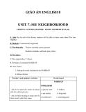 Giáo án bài My neighborhood - Tiếng Anh 8 - GV.V.T.Chi
