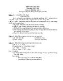 Đề kiểm tra HK I môn Hóa lớp 8 năm 2012-2013