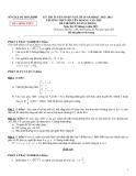 Đề thi tuyển sinh môn Toán 10 - Sở GD&ĐT Hòa Bình (2012-2013)