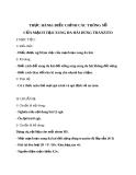 Giáo án bài 12: Thực hành điều chỉnh thông số mạch tạo xung  - Công nghệ 12 - GV.Đ.T.Hoàng
