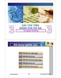 Bài giảng Thẩm định dự án đầu tư: Chương 3 - ThS.Nguyễn Tấn Phong