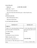 Giáo án bài Tập làm văn: Luyện tập làm đơn (Tuần 6) - Tiếng việt 5 - GV.Lê T.Hoà