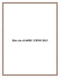 Báo cáo số 60/BC-UBND 2013