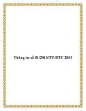 Văn bản số 81/2013/TT-BTC 2013