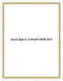 Quyết định số 1134/QĐ-UBND 2013