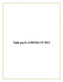Nghị quyết số 80/NQ-CP 2013