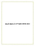 Quyết định số 1277/QĐ-UBND 2013