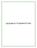 Văn bản số 1777/QĐ-BGTVT 2013