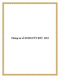 Thông tư số 83/2013/TT-BTC 2013