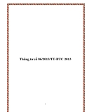 Thông tư số 86/2013/TT-BTC 2013