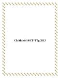 Văn bản chỉ thị số 14/CT-TTg